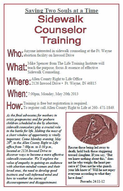 Sidewalk Counselor Training